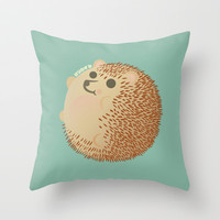 Hedgehog (HARINEZUMI) Throw Pillow by Mtkuy