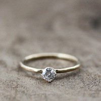 moissanite 25ct ring14kt yellow gold by DreamsandJewelry on Etsy
