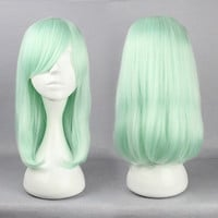 Seafoam Green Medium Length Wig