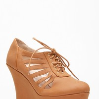 Bamboo Round Toe Cut Out Lace Up Wedge @ Cicihot Wedges Shoes Store:Wedge Shoes,Wedge Boots,Wedge Heels,Wedge Sandals,Dress Shoes,Summer Shoes,Spring Shoes,Prom Shoes,Women's Wedge Shoes,Wedge Platforms Shoes,floral wedges