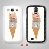 Samsung Galaxy S3 case, Samsung Galaxy S4 case, Poppies, Cat, Phone cases, Phone Covers - S0922