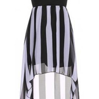 The Black & White High Low Dress