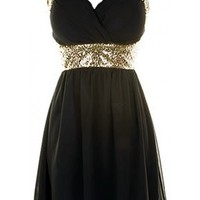 Cross Back Sequin Dress