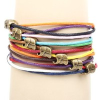 Amazon.com: Brass Copper Elephant Thailand Charm Pendants on Handmade Leather Infinity Bracelet: Jewelry