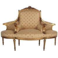 1900's Louis XVI Style Entry Way Sofa