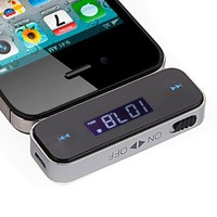 3.5mm In-car Wireless Fm Transmitter for iPhone 4S 5 iPod Touch Galaxy S2 S3 MP3