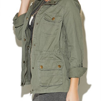 Rolled Sleeve Anorak Jacket | Wet Seal