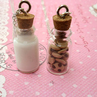 Milk and Cookies Best Friend Necklace Set: BFF Forever