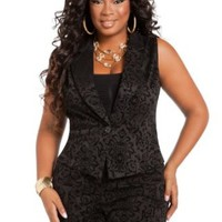 Ashley Stewart Women's Plus Size Baroque Vest