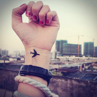 InknArt Temporary Tattoo - 2pcs Little Airplane wrist quote tattoo body sticker fake tattoo wedding tattoo small tattoo