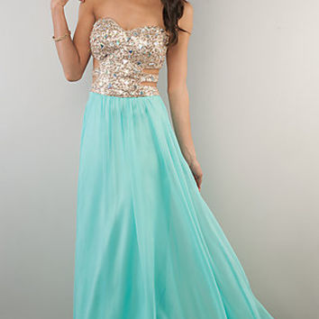 Floor Length Strapless Sweetheart Prom Dress