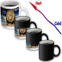 Spiritual Awakenings-Wild Life - King of the jungle, stunning lion on the prairie with digital affects - Mugs