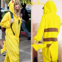 New Japan Anime Pikachu Pokemon Cosplay Romper Kigurumi Animal Costumes Pyjamas Xmas Gift (S)