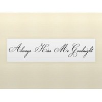 ALWAYS KISS ME GOODNIGHT Vinyl wall quotes love sayings home art decor decals: Everything Else