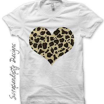 Iron on leopard shirt pdf girls heart from for T shirt printing pdf