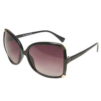 Metal Corner Butterfly Sunglasses | Wet Seal