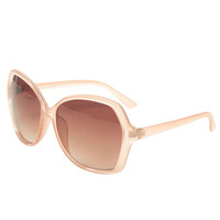 Oversized Transparent Butterfly Sunglasses | Wet Seal