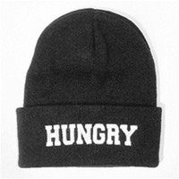 HUNGRY Cuffed Knit Beanie Black - One Size
