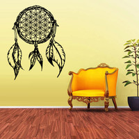 Wall Decal Vinyl Sticker Decals Dream Catcher Dreamcatcher Feather Bedroom (z1591)