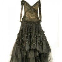 Zandra Rhodes Gothic Black Dress