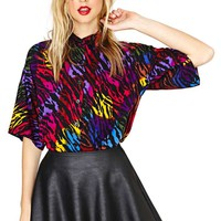 Zebra Party Blouse