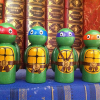 Teenage Mutant Ninja Turtles- PegBuddies Set of 4