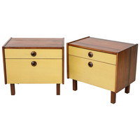 Pair of Solid Walnut Nightstands