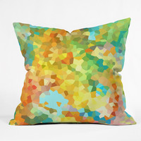 Rosie Brown Splattered Paint Outdoor Throw Pillow