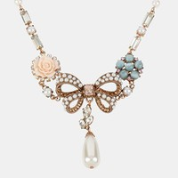 Betsey Johnson 'Vintage Bow' Bow Frontal Necklace   Nordstrom