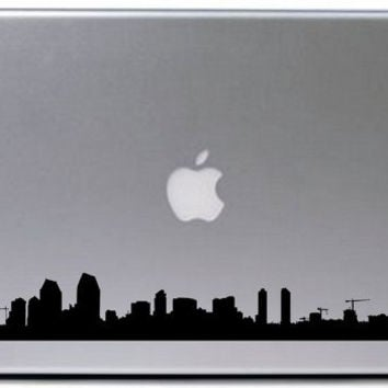 San Diego City Skyline Decal Sticker Laptop Car Window