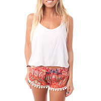 *NEW DESIGN : Hawaiian Peacock Pom Pom Shorts