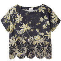 Golden Leaves Top