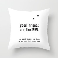Best Friends Throw Pillow by Deadly Designer