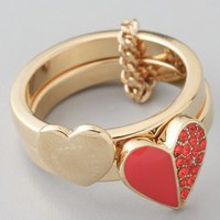 Marc by Marc Jacobs Colorblock Hearts Harem Ring