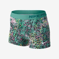 "Nike 3"" Pro Core Compression Printed Women's Shorts - Diffused Jade"