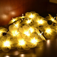 Wedding Flower Lights Yellow Fairy String Lights for home decorate 20 Lights/Set