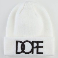 Dope Cuff Beanie White One Size For Men 22560515001