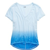 AERIE DEEP V-NECK OVERSIZED DIP DYE T-SHIRT
