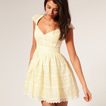 ASOS | ASOS Pretty Embroidered Shift Dress at ASOS