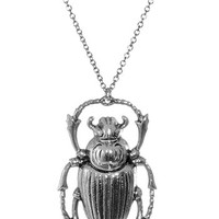 Shining Scarab Beetle Necklace - PLASTICLAND