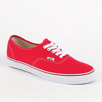 Vans Authentic Red Shoes - Mens Shoes - Red -