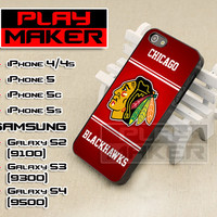 Chicago Blackhawks - iPhone 4/4s, iPhone 5, 5s, 5c, Samsung Galaxys2, s3 and s4 Case