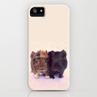 Sticking Together - Guinea Pig Siblings iPhone & iPod Case by Tangerine-Tane
