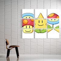 Mario Match Canvas Prints (9)
