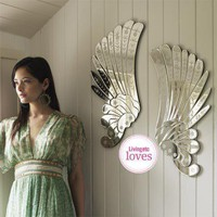 Mirrored Angel Wings, Dressing Table Mirrors | Graham and Green Bedroom