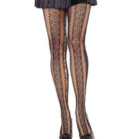 Seductive Stripes Fishnet Pantyhose