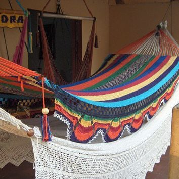 Hammocks Double Hammock handwoven Natural Cotton by hamanica