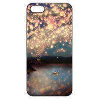 Tangled the Lights Art Iphone 5 5s Hard Back Shell Case Cover Skin for Iphone 5 Cases - Black/white/clear