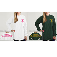 Product: Baylor University Bears Women's Ra Ra Football Long Sleeve T-Shirt: www.bkstr.com