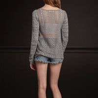Ocean Beach Lace Back Sweater